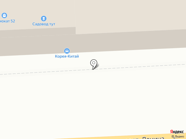 Островок на карте Дзержинска