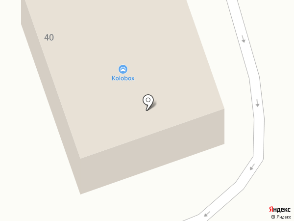 Автокомплекс на ул. Попова на карте Дзержинска