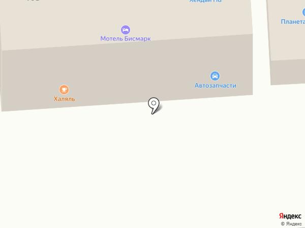 Халяль на карте Северного
