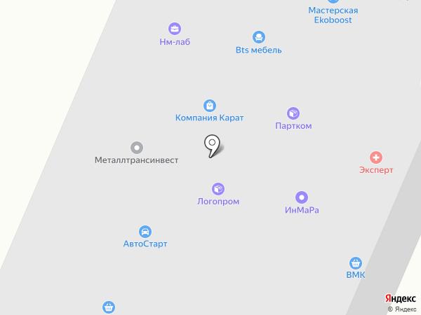 Единая Европа-Холдинг на карте Нижнего Новгорода