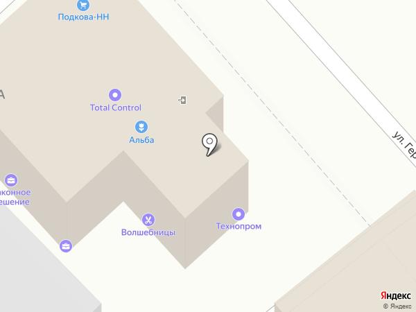 Альба на карте Нижнего Новгорода