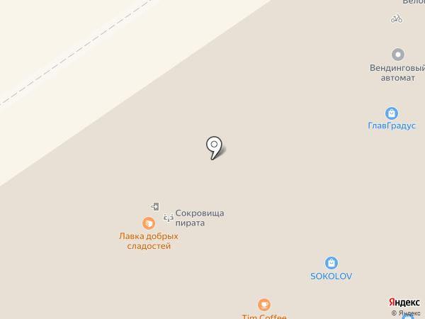 Сокровища пирата на карте Нижнего Новгорода
