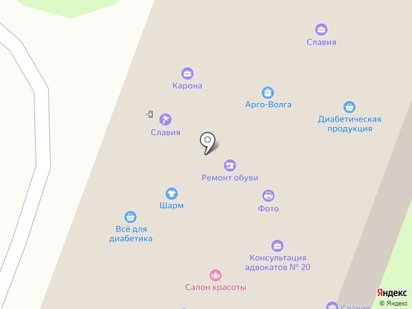 Территория танца на карте Нижнего Новгорода