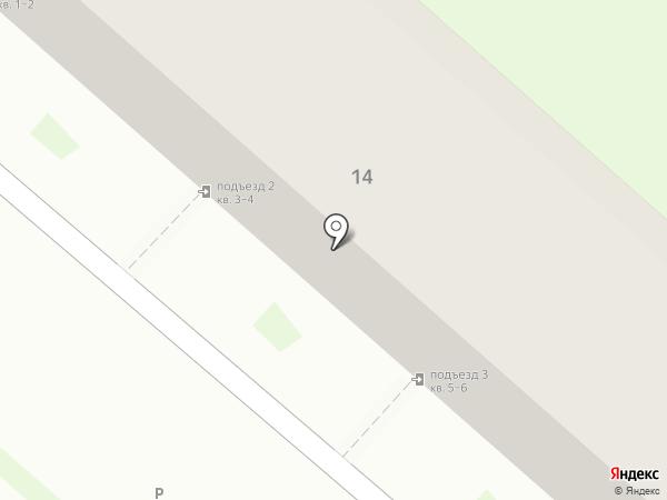 Окский берег на карте Новинок