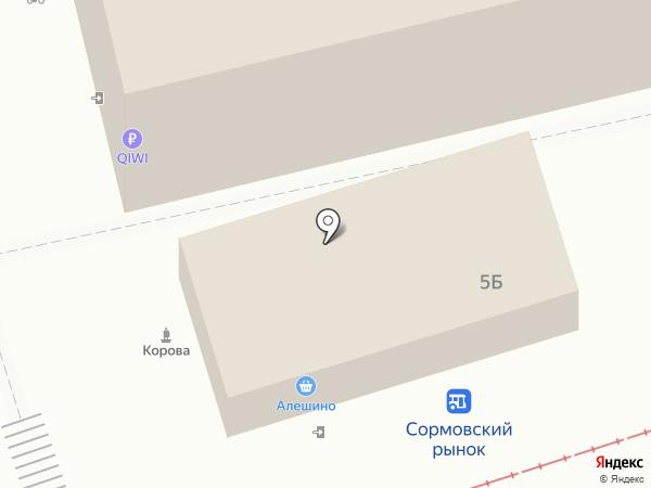 Магазин разливных напитков на карте Нижнего Новгорода