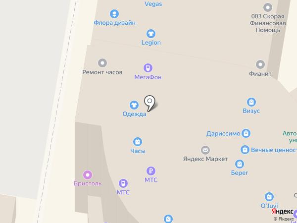 Ломбард Берег-НН на карте Нижнего Новгорода