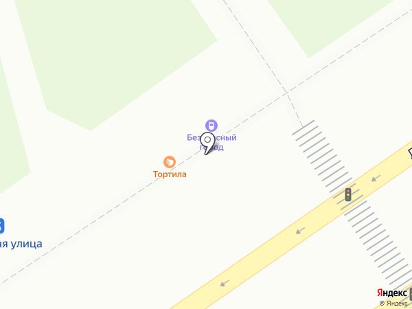 Тортила на карте Нижнего Новгорода