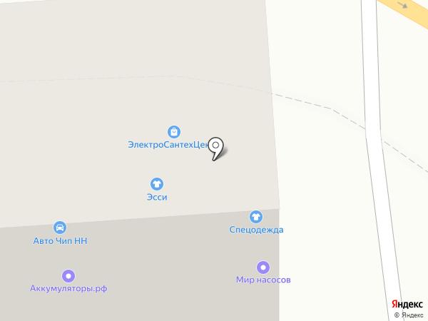 Магазин спецодежды на карте Нижнего Новгорода