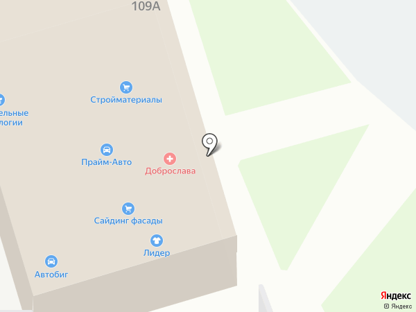 Меридиан на карте Нижнего Новгорода