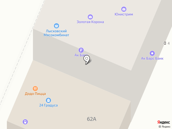 Банкомат, АК Барс банк, ПАО на карте Нижнего Новгорода