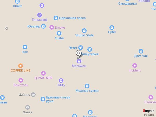 Киоск табачной продукции на карте Нижнего Новгорода