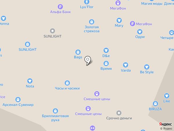 Столото на карте Нижнего Новгорода