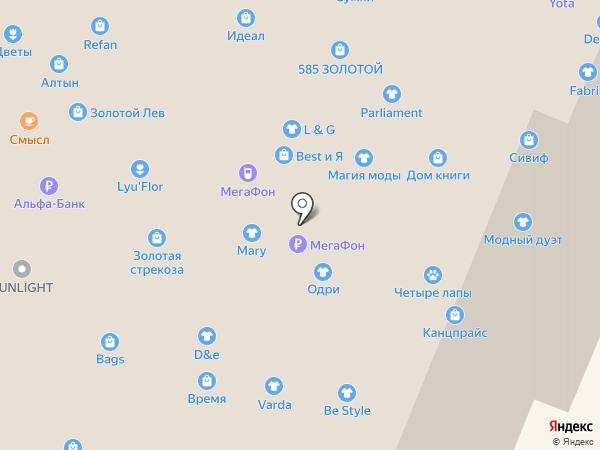Ирис на карте Нижнего Новгорода