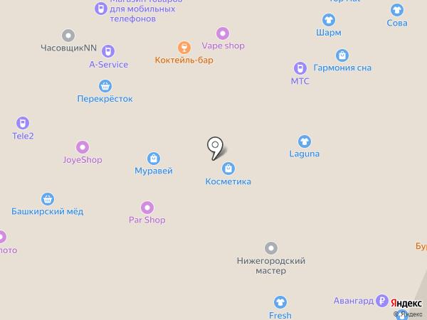 Магазин сувениров на карте Нижнего Новгорода