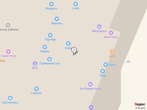 Сова на карте Нижнего Новгорода