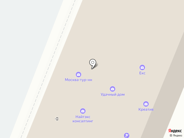 Сапсан Плюс на карте Нижнего Новгорода