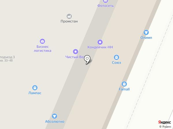 1 Электромонтажная компания на карте Нижнего Новгорода