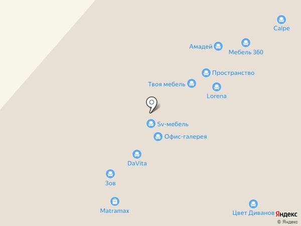 Азбука мебели на карте Нижнего Новгорода