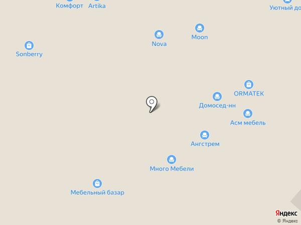 Диваны для нирваны на карте Нижнего Новгорода
