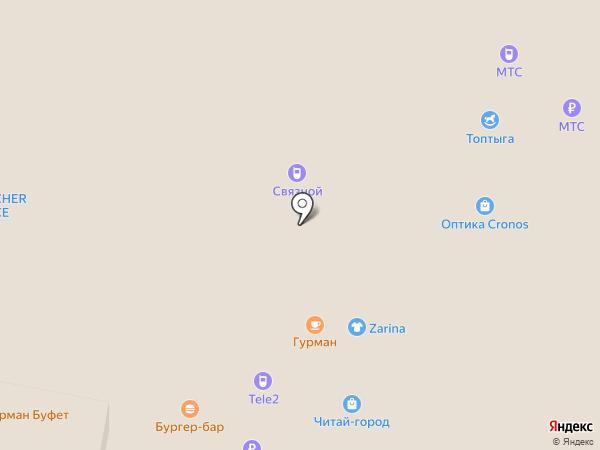 Адель на карте Нижнего Новгорода
