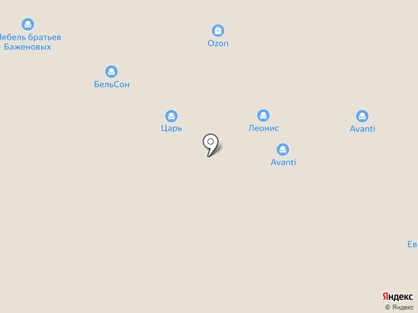 Dиван на карте Нижнего Новгорода