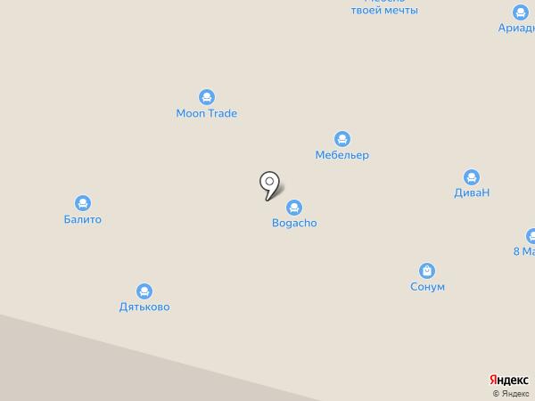 Авенто на карте Нижнего Новгорода