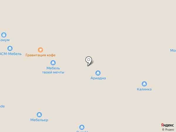 Мебельхолл на карте Нижнего Новгорода