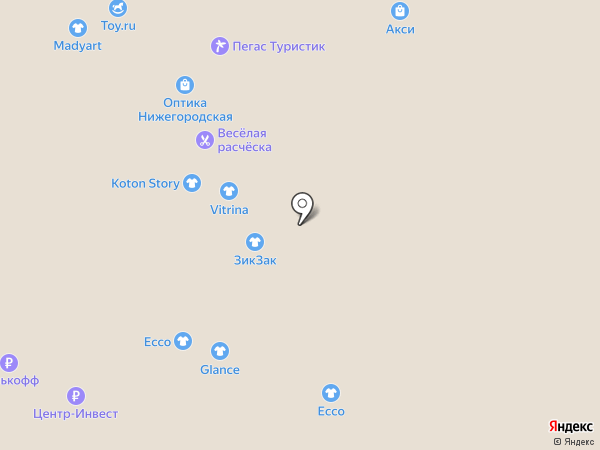 Vesteto на карте Нижнего Новгорода