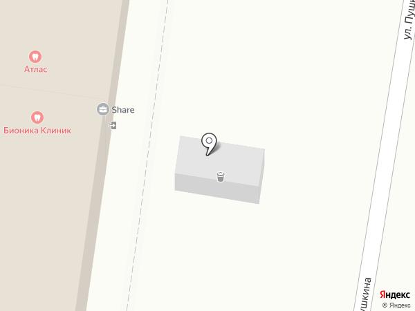 Таймед на карте Нижнего Новгорода