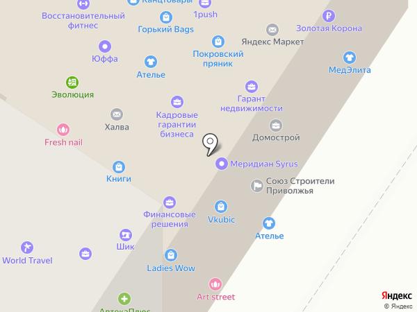 Сеть ателье-мастерских на карте Нижнего Новгорода