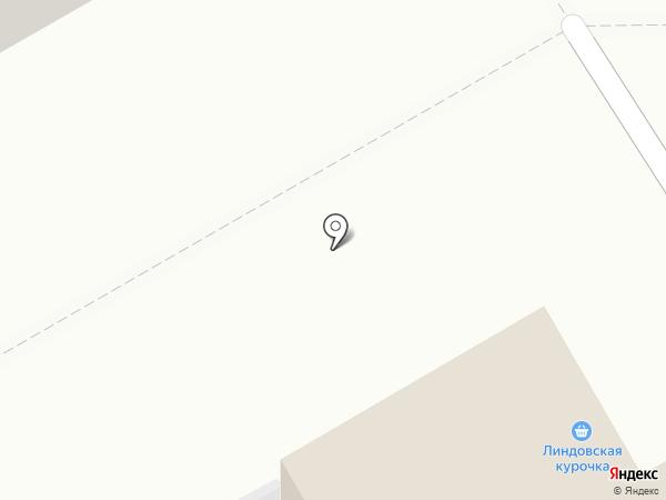 Линдовская курочка на карте Бора