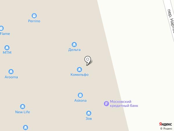 Амадей на карте Нижнего Новгорода