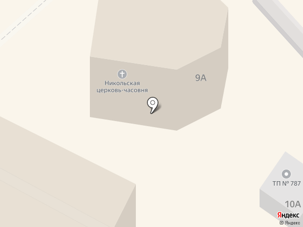 Приход Храма-часовни Святого Николая Чудотворца на карте Нижнего Новгорода