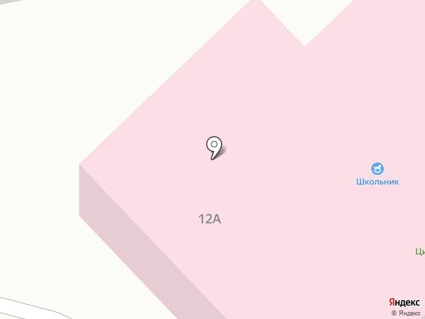 Школьник на карте Бора
