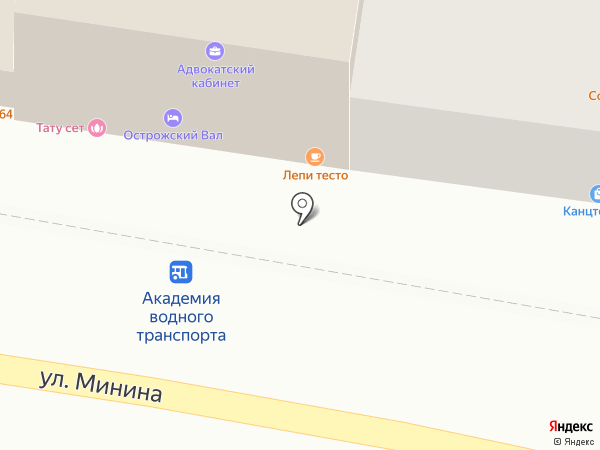 Soul Kitchen на карте Нижнего Новгорода