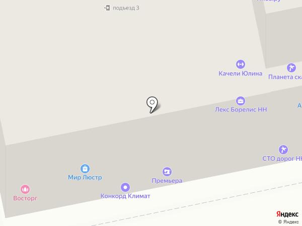Барс на карте Нижнего Новгорода