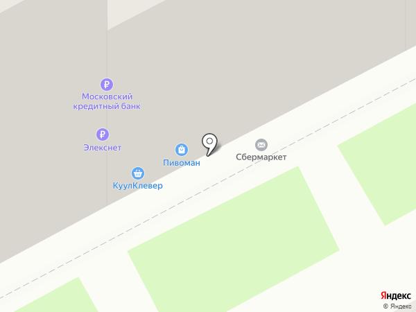 Пивоман на карте Нижнего Новгорода