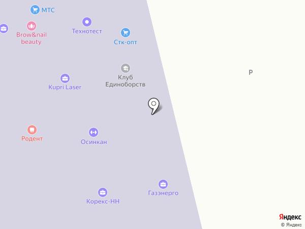 Автомобильная справочная служба на карте Нижнего Новгорода