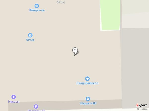 Пятерочка на карте Нижнего Новгорода