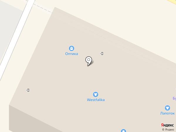 Лапоток на карте Бора