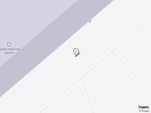 Береславская средняя общеобразовательная школа на карте Береславки