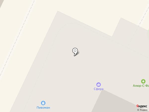 Сфера на карте Бора