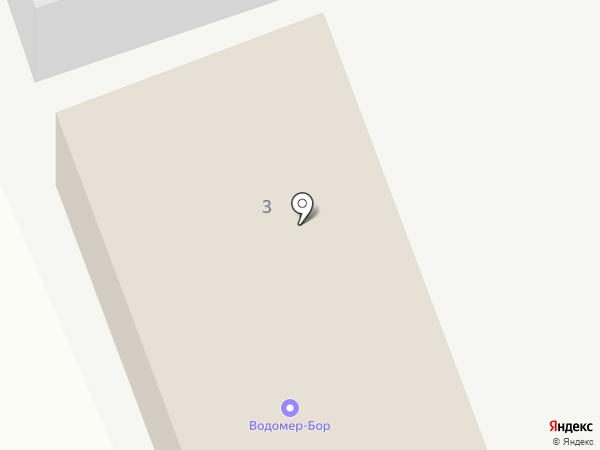 Водомер-Бор на карте Бора