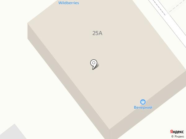 Вечерний на карте Береславки