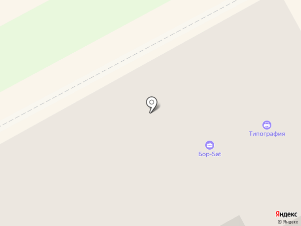 Борчаночка на карте Бора