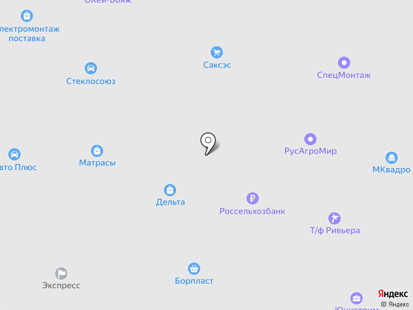 Борская автошкола на карте Бора