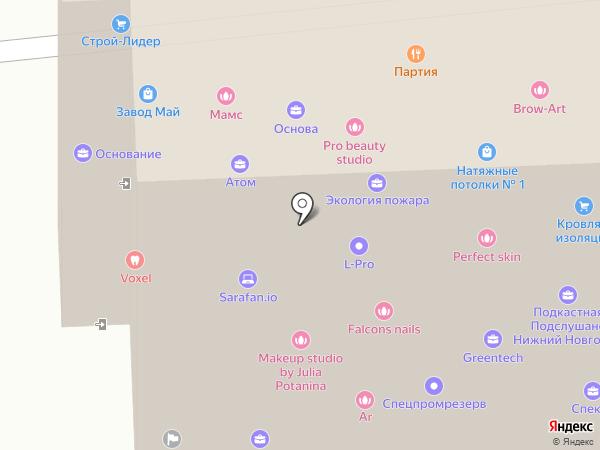 CHERNOVA на карте Нижнего Новгорода