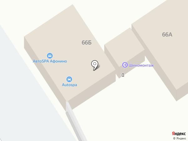 Автомойка на карте Афонино