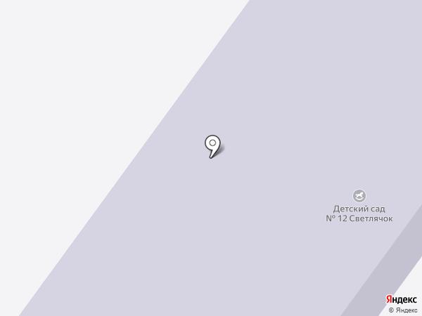 Детский сад №12, Светлячок на карте Бора