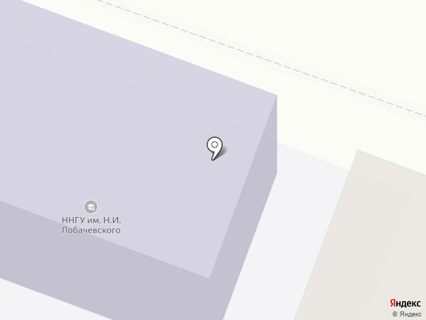 Нижегородский государственный университет им. Н.И. Лобачевского на карте Бора